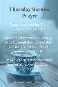 thursday morning prayer bible verses christianstt