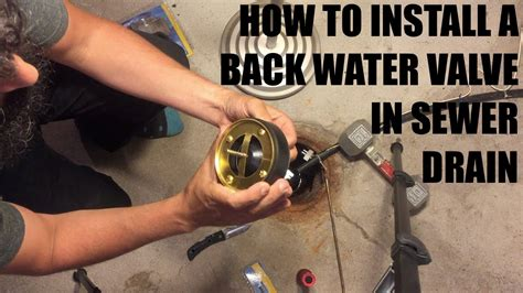 How to install sewer drain backwater valve (drain float
