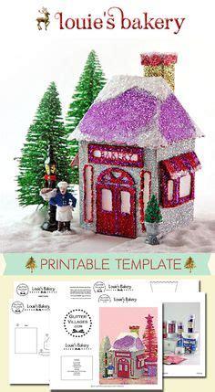 printable christmas village template christmas village printable templates on pinterest