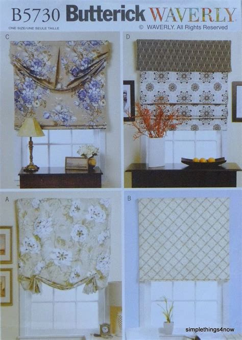 Waverly Patterns Curtains Butterick 5730 Waverly Shades Valances Window Treatments Sewing Pattern New Ebay