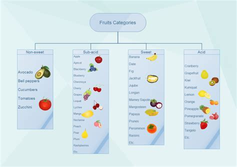 Create A Floor Plan by Fruits Categories Tree Diagram Free Fruits Tree Diagram