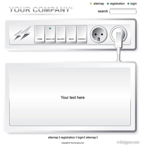 electrical outlet template 4 designer vector electrical outlet switch pages
