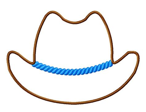Cowboy Hat Template cowboy hat applique machine embroidery design