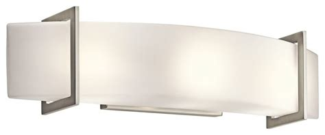 Kichler 45220ni crescent view modern contemporary bathroom vanity light contemporary