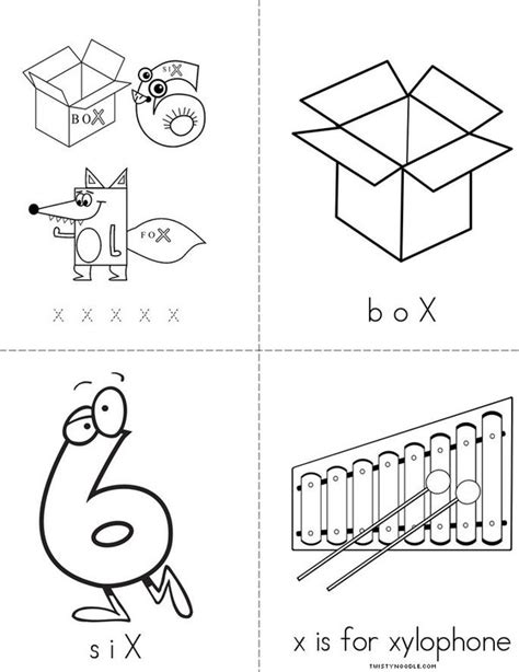 printable letter y book letter x book twisty noodle