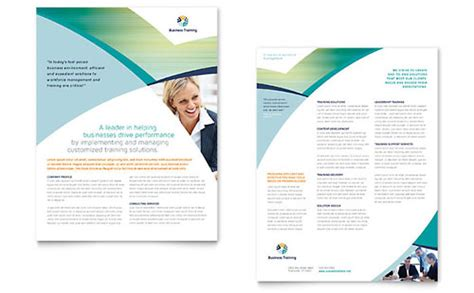 business training brochure template word publisher