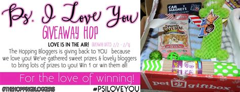 I Love Giveaways - p s i love you giveaway hop petgiftbox for dog or cat 2 16 17 saralee s deals