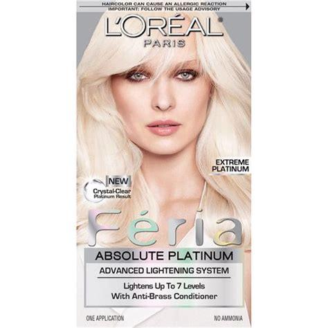 best box dye with bleach l oreal paris feria absolute platinum advanced lightening