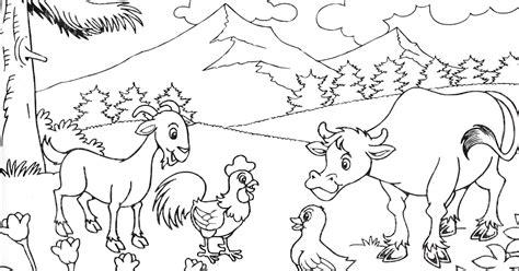 Coloring Mewarnai Pemandangan karikaturku indonesia latihan 2 mewarnai pemandangan alam
