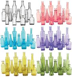 colored glassware vintage colored glass bottles wedding vases 12