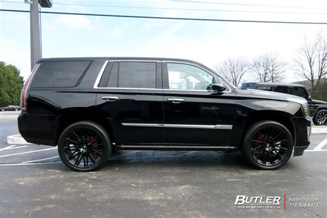 cadillac escalade black rims cadillac escalade with 24in black rhino zulu wheels