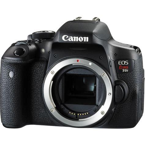 canon eos canon eos rebel t6i dslr only 0591c001 b h photo