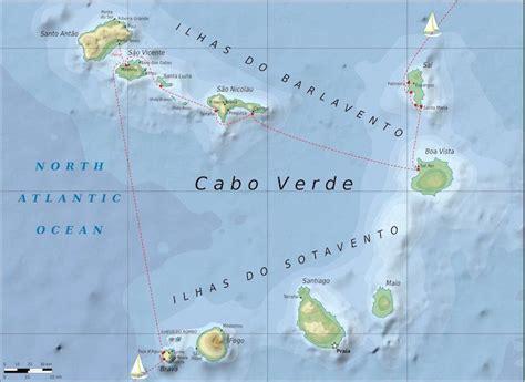 mapa de cabo verde cabo verde mapa completo de las islas africanas