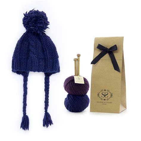 knitting kit knit cable coo hat knitting kit by stitch story