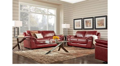 grand palazzo red leather reviews 1 488 00 grand palazzo leather 2 pc living room classic contemporary