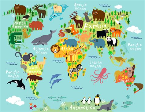 atlas of untamed places 1781316775 wild animal with world maps vector 02 vector animal vector maps free download