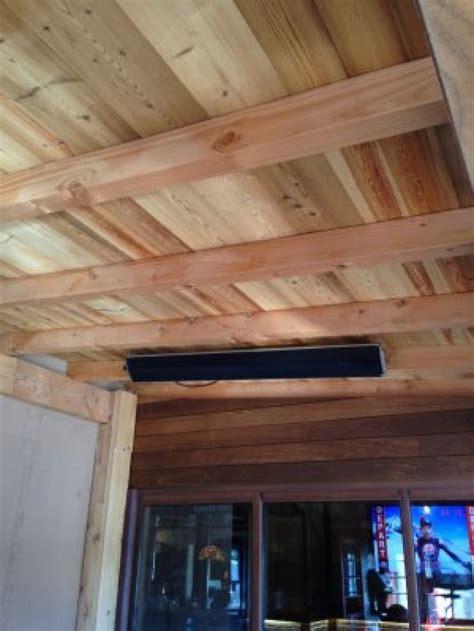 Chauffage Plafond by Fixation Du Radiateur Ir Sur Un Plafond En Bois