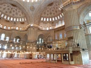 Islamic mosques inside viewing gallery