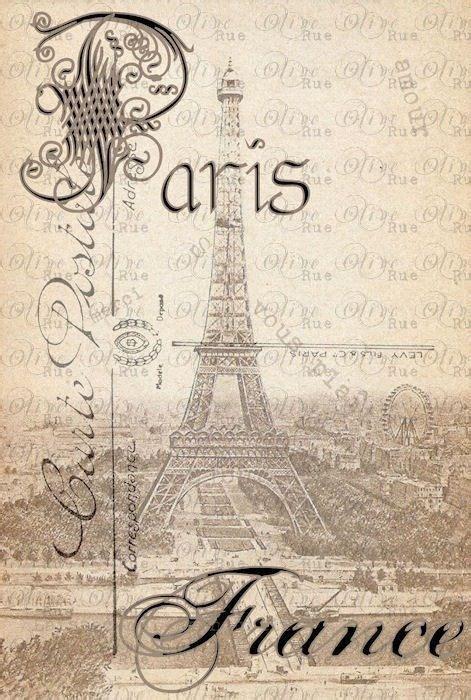printable paris pictures vintage postcard of paris templates printables