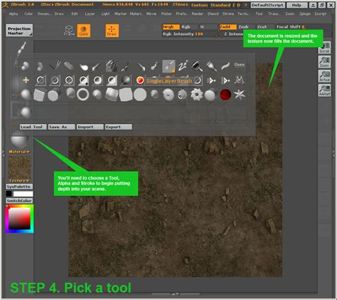 zbrush tutorial import painting depth on textures in zbrush 2