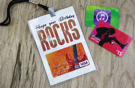 Google Music Gift Card - hope your birthday rocks free music themed gift card holder giftcards com