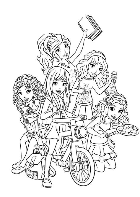 lego and friends coloring pages free lego and friends coloring pages