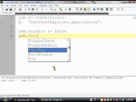input pattern internet explorer autohotkey com with internet explorer tutorial part 1