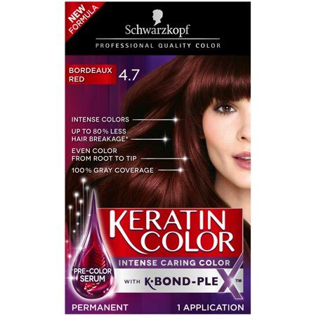 bordeaux hair color schwarzkopf keratin color anti age hair color 4 7