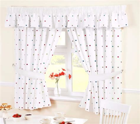 polka dot kitchen curtains dotty polka dot white kitchen curtains many sizes