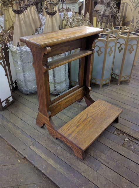 antique prayer bench prie dieu kneelers used church items