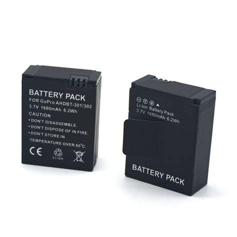 Diskon Gopro Hd 3 Battery Replacement 1680mah battery replacement 1680mah for gopro hd 3 ahdbt 301 302 black jakartanotebook