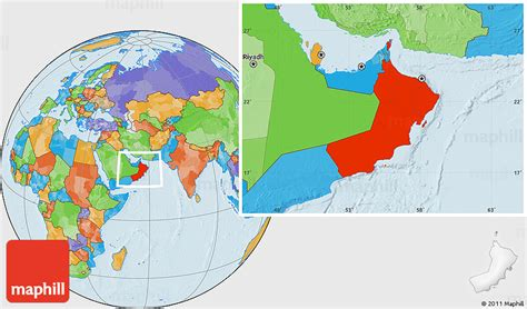 oman location in world map political location map of oman