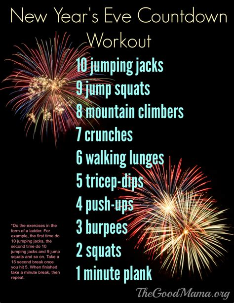 new year live new year s countdown workout the