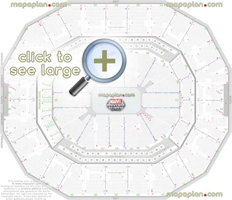 how many does square garden seat kfc yum center seat row numbers detailed seating chart