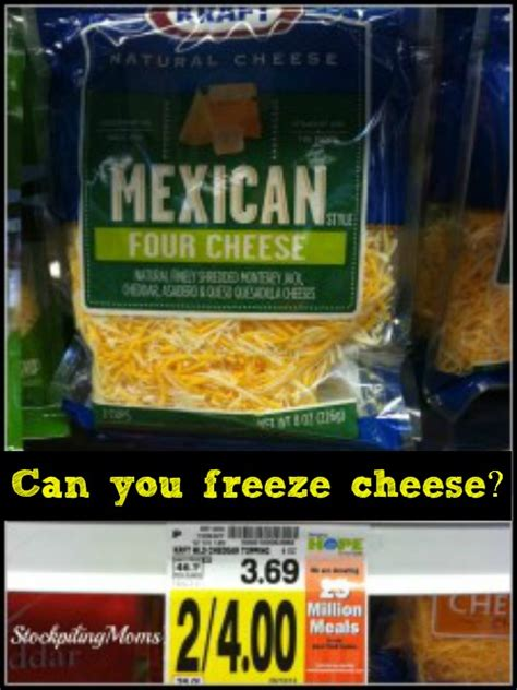 can you freeze cheese