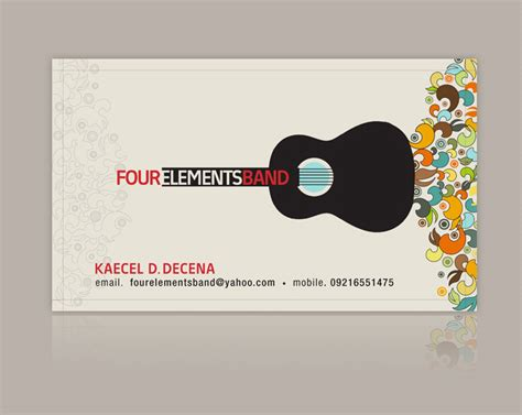 Band Business Card Templates Free by Band Business Card Templates Free Card Design Ideas