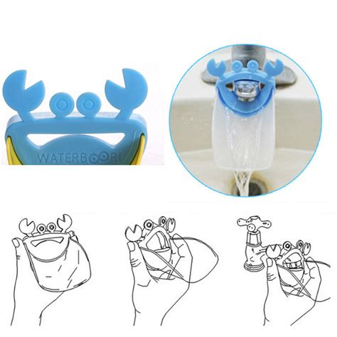 Crab Faucet Extender by Baby Children Crab Faucet Extender Washing Device