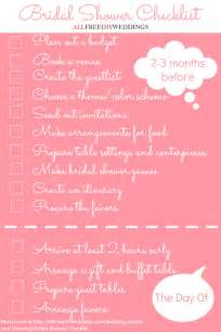 Advice To The Bride And Groom Cards Bridal Shower Checklist Allfreediyweddings Com
