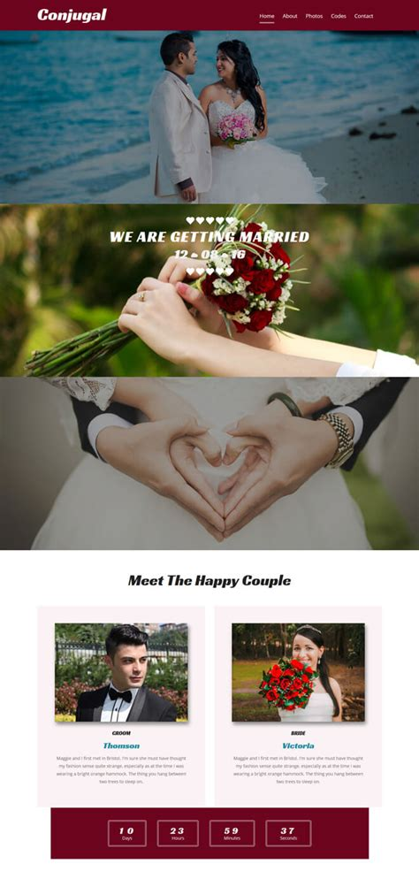 Free Event Bootstrap Template List Of Best Quality Html5 Templates For Event And Conference Websites Wedding Planner Bootstrap Template