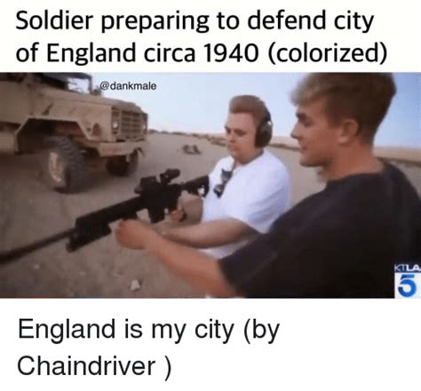 Circa Memes - soldier preparing to defend city of england circa 1940 colorized england meme on me me