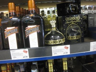 Shelf Of Cointreau by Check Out These Bottles Of Cointreau