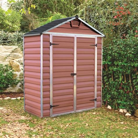 6x3 Garden Shed by Palram Skylight Plastic Apex Shed 6x3 Garden