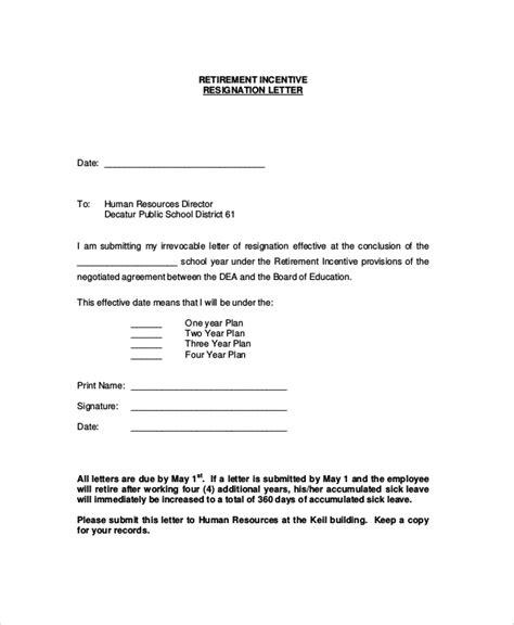 Acceptance Letter For Retirement sle retirement resignation letter 6 documents in pdf