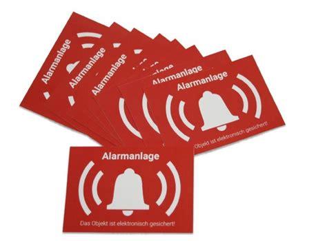 Aufkleber Alarmanlage Wohnmobil by 10x Alarm Aufkleber Sticker Warnaufkleber Alarmanlage Mit