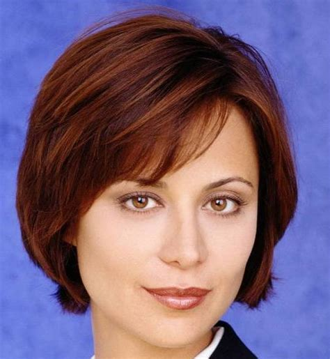 female actresses severe short hair short hairstyles american actress catherine bell with