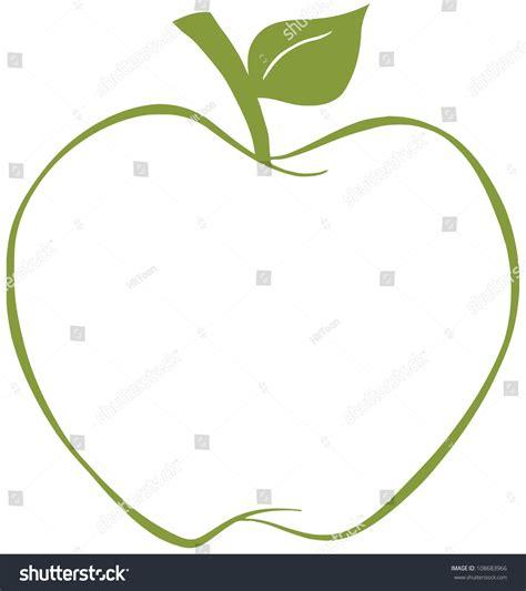 Green Apple Outline by Apple Green Outline Vector Illustration Stock Vector 108683966