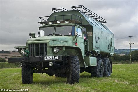 Monster truck used by Russians in the Cold War transformed into luxury camper van   Daily Mail