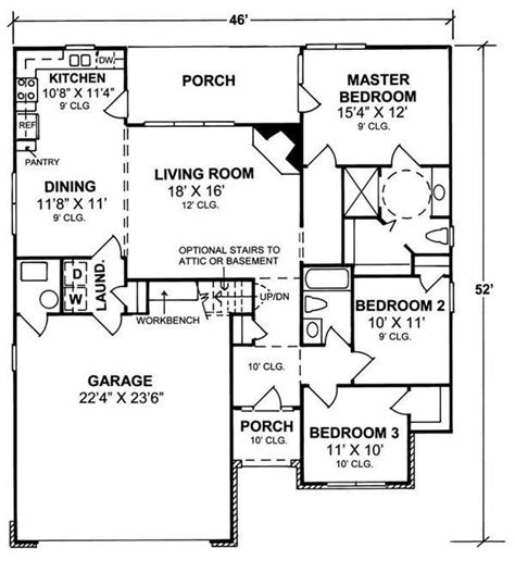 1100 sq ft house plans house plan 178 1100 3 bedroom 1407 sq ft country