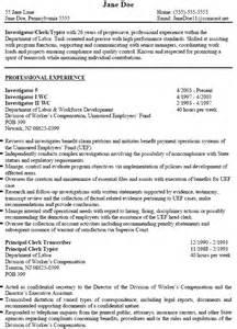investigator resume exle pct resume resume cv cover
