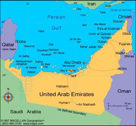 arab emirates map united arab emirates map political regional maps of asia